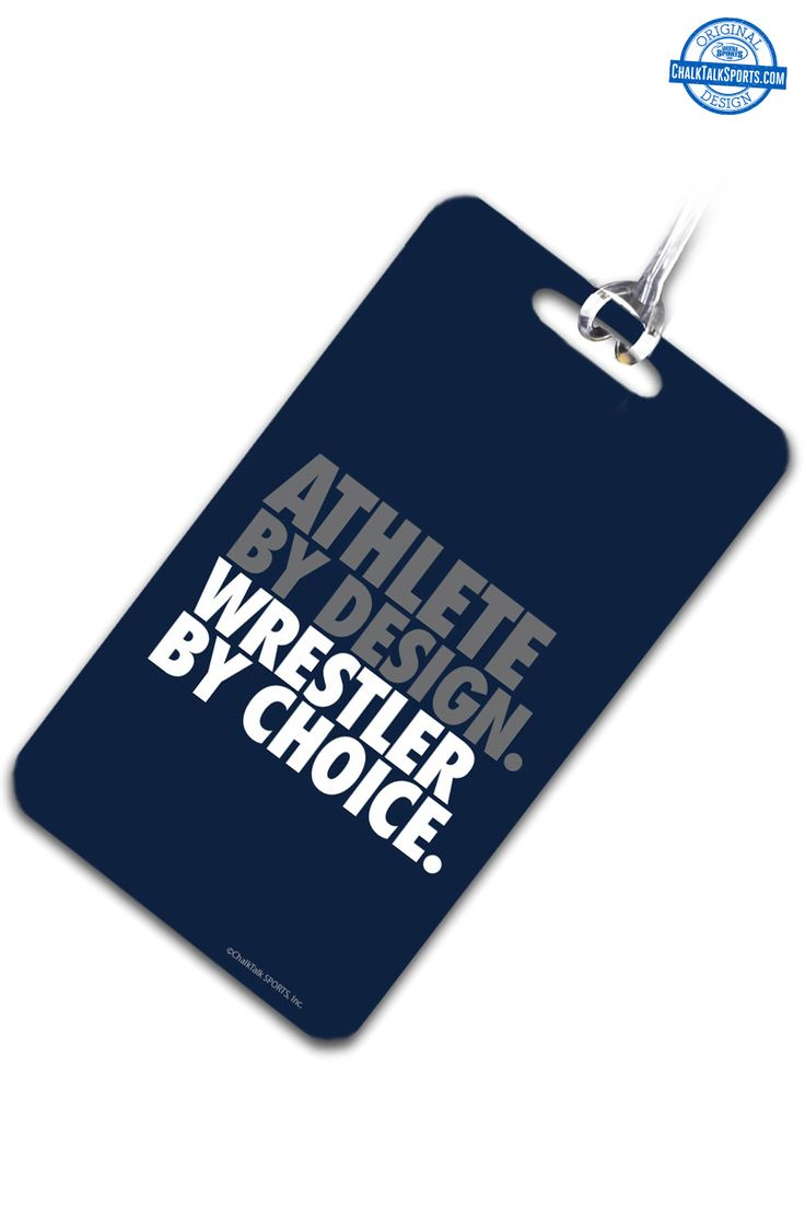 Travel to your meets in style with our wrestling bag tags! From ChalkTalkSPORTS.com!