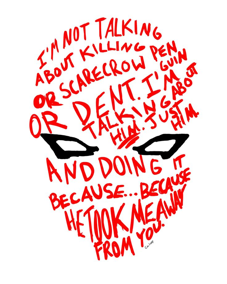 The Red Hood Helmet.... I get teary eyed every time I read this quote>>>> Aw, Jason! :'(