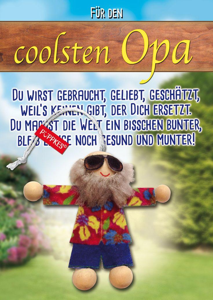 #Geschenk #Mitbringsel #Karte #Glücksbringer #besteropa #opa #Opi #Anhänger