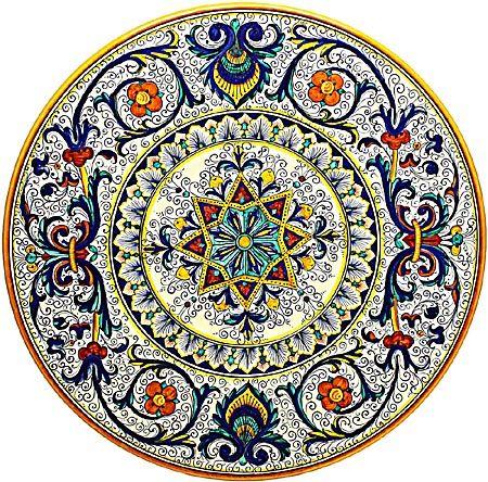 Ceramic Majolica Plate G08 Ricco Deruta Peacock #TuscanyAgriturismoGiratola
