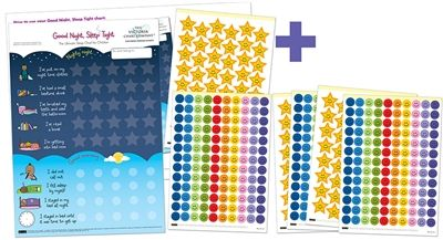 The Victoria Chart Company - Toddler sleep chart -Good Night Sleep Tight chart. Encourage you child to sleep all night long. Available from www.victoriachartcompany.com