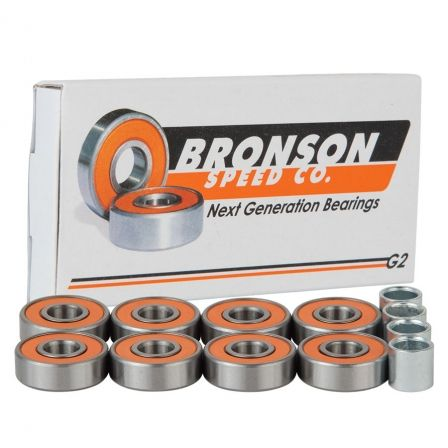 Check out the deal on G2 BOX/8 Bronson Speed Co. Skateboard Bearings at NHS Fun Factory