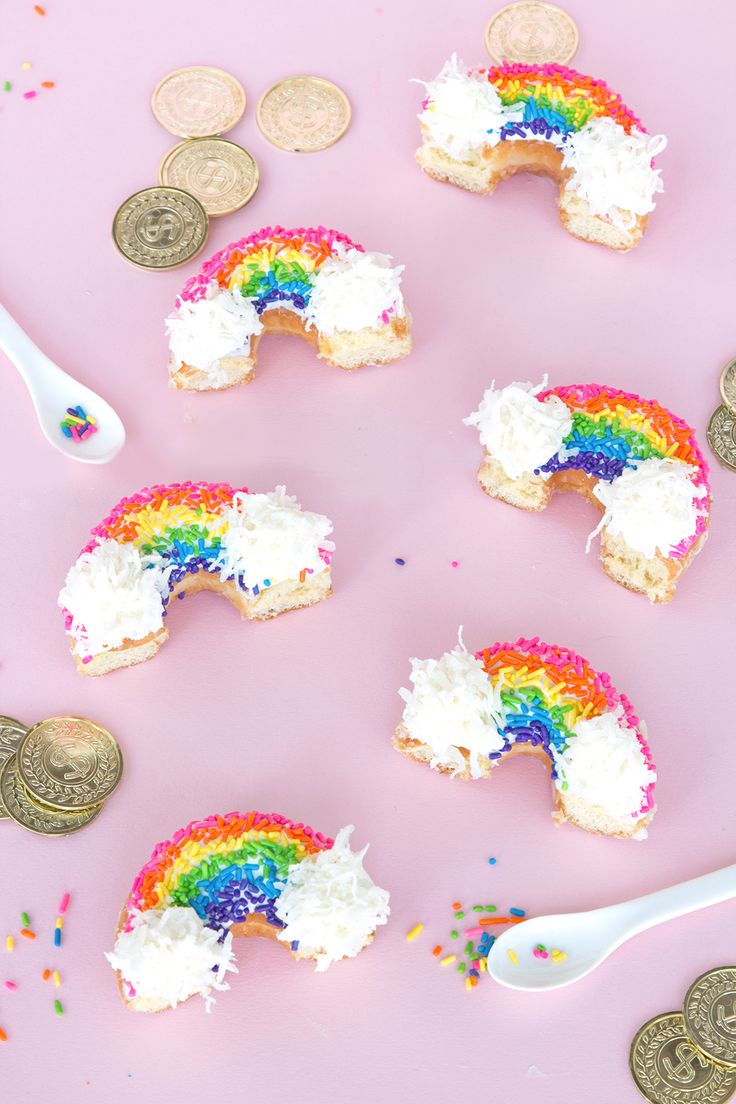 Rainbow donuts for St. Patty's Day!