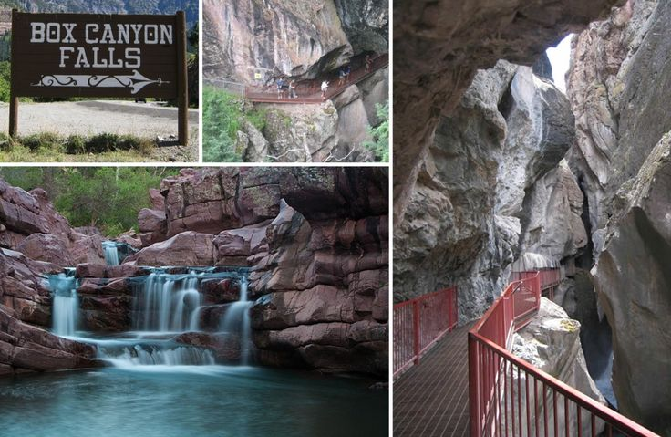 """The """"Box Canyon"""" Falls, Ouray's own wonder of the world, is the culmination of Canyon Creek narrowing and spilling thousands of gallons a minute of water over the falls. It is truly a dramatic scene, and one that you can enjoy from both above and below the falls."""