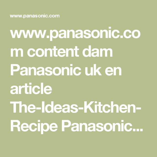 www.panasonic.com content dam Panasonic uk en article The-Ideas-Kitchen-Recipe Panasonic-Breadmaker-Recipe-Madeira-Cake.pdf