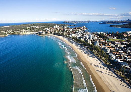Manly Beach, Australia - If you're staying in Sydney, take the quick ferry ride to Manly Beach.(You can get to Manly by taking a ferry from either Watsons Bay or Circular Quay in the City.) Great beach and adorable little town with the nicest people.