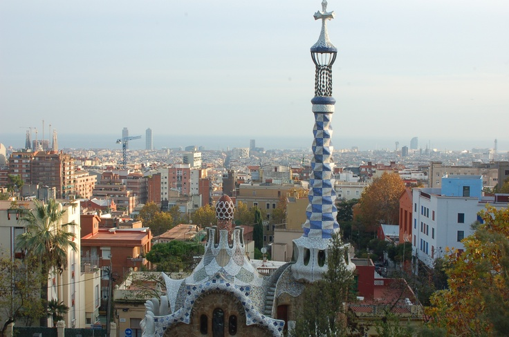 View from Gaudi Park in Barcelona