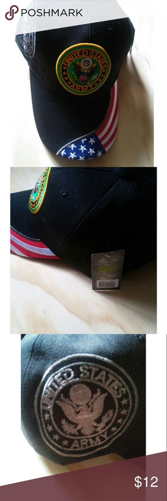 NWT Army hat 🇺🇸 NWT Army hat. Velcro back strap. Would make a great gift! 🇺🇸Happy poshing! 💜🌻✌ Accessories Hats