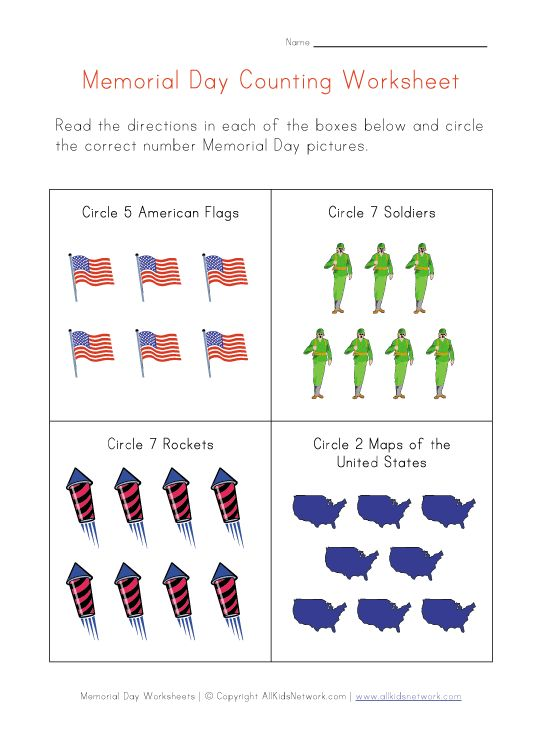 memorial day activities for school