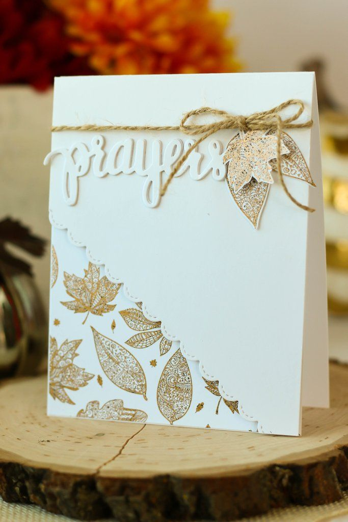 Brutus Monroe's papers are printed with toner ink, which means you can foil them! This card is created with the Fall Tangled Elements paper stack. Clean, classic design!