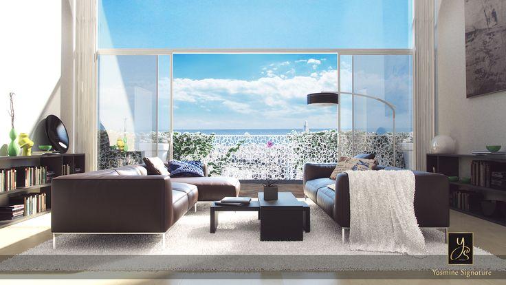 Qu'ils offrent de grandes baies vitrées, des loggias, de larges balcons, des terrasses plein ciel ou des jardins privatifs, tous les appartements du projet Casa Anfa ont été étudiés pour offrir de véritables prolongements sur l'extérieur. http://www.yasmine-immobilier.com/