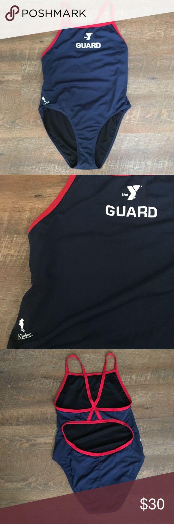 Kiefer Lifeguard OnePiece Swimsuit Size 36 Color Navy