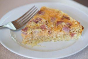 Ham & Cheese Quiche with Spaghetti Squash Crust