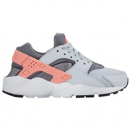 Nike Huarache Run - Girls' Preschool - Running - Shoes - Pure Platinum/Lava  Glow/Cool Grey/White-sku:4951010