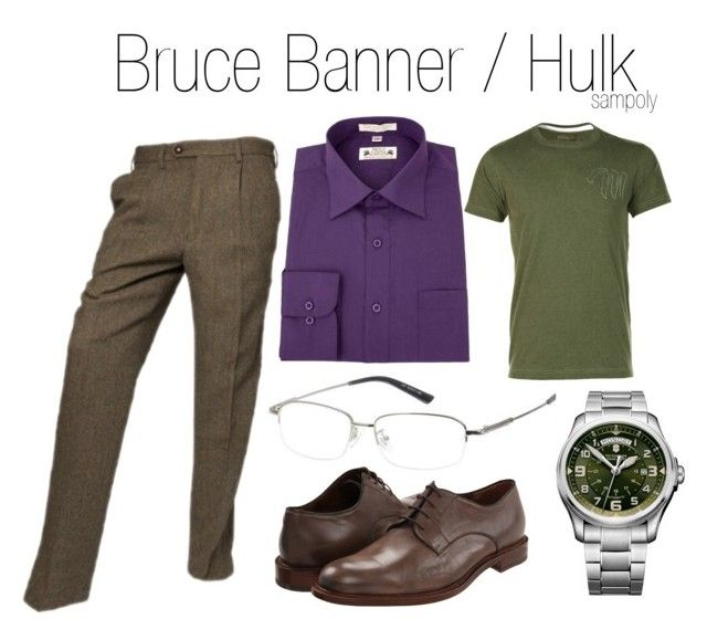 """""""Bruce Banner/Hulk (male)"""" by sampoly ❤ liked on Polyvore featuring Paolo, Victorinox Swiss Army, Maharishi, Fratelli Rossetti and bruce banner hulk"""