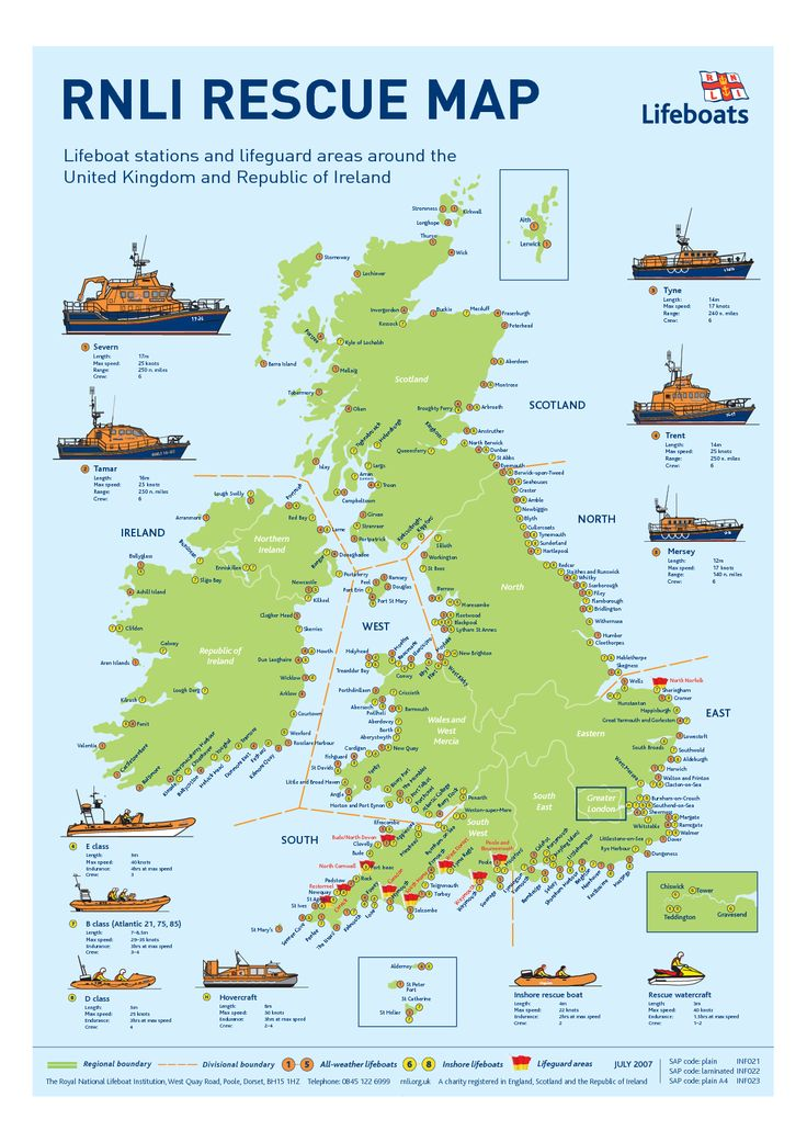 For those in peril on the sea: RNLI rescue map of Great Britain and Ireland