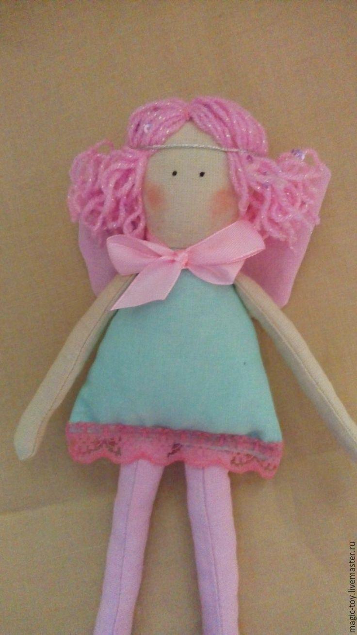 Купить Ангелок - мятный, розовый, ангел, кукла Тильда, кукла тоннер, кукла шитье