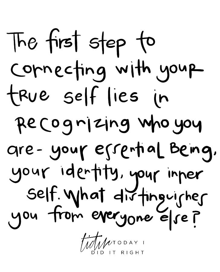 The First Step To Connecting With Your True Self Lies In