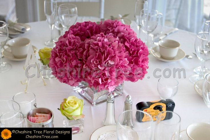 Pink Hydrangea Centerpiece : Best ideas about pink hydrangea centerpieces on