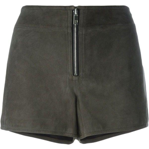 Rag & Bone Front Zip Shorts (£395) ❤ liked on Polyvore featuring shorts, grey, rag bone shorts, rag & bone, grey shorts and gray shorts