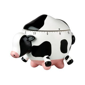 How often do you buy something that is both useful and hilarious? This Udderly Cows kitchen timer is equal parts of each. The rotund heifer balances on huge pink udders, waving its feet in the air. A low ticking assures you that it's working and a loud ring lets you know that it's time to take dinner out of the oven.  $8