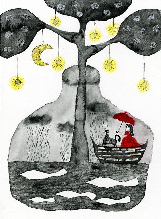 明日を思う I believe tomorrow. | Tetsuhiro Wakabayashi Illustration