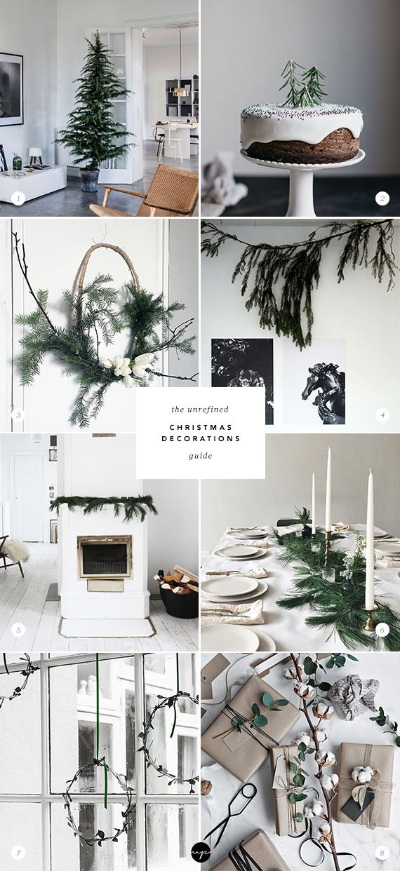 The unrefined Christmas decoration guide via My