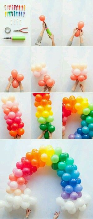 How to make a diy rainbow balloon arch. G;)