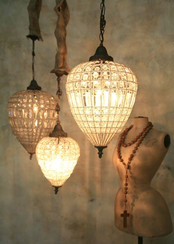 This Ivy House - crushculdesac: Layla Grayce teardrop chandelier...