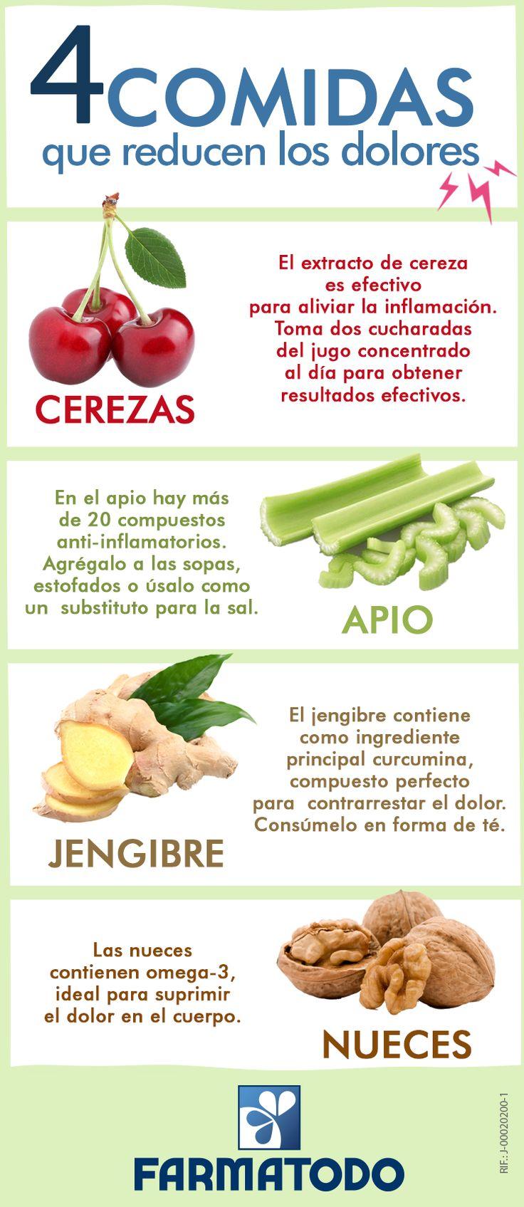 Conoce cuales son los alimentos que ayudan a reducir el dolor #ViveSaludable
