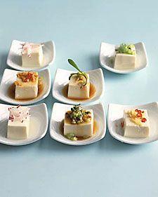 chilled tofu, Japanese-style