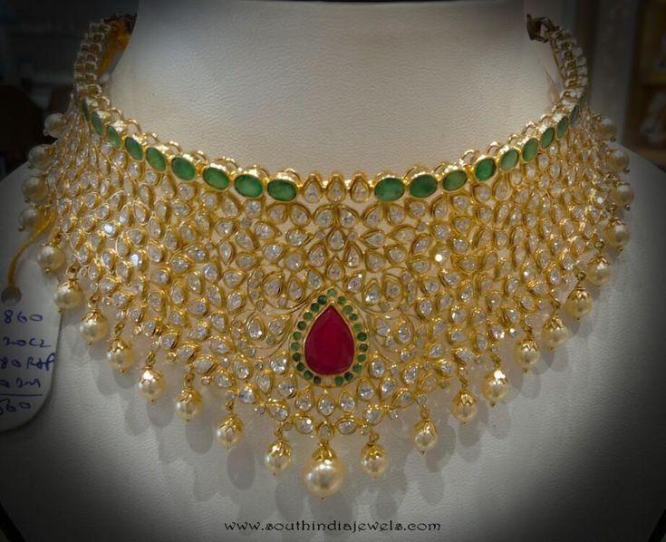 Uncut Diamond Choker Necklace from Navkar Gold World