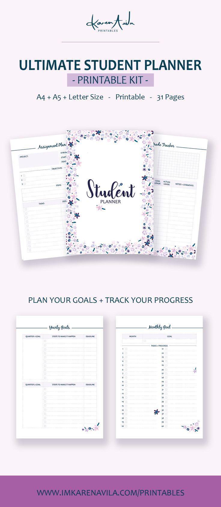Best 25+ Student planner printable ideas on Pinterest ...