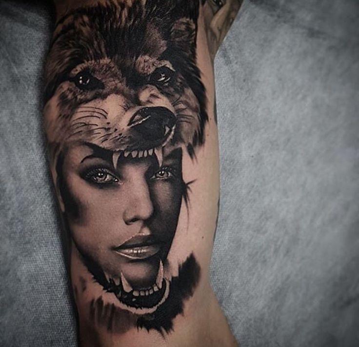 The 25 Best Wolf Girl Tattoos Ideas On Pinterest