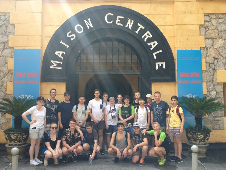 Hoa Lo Prison, sarcastically referred to as the #Hanoi Hilton by American pilots. #VietnamSchoolTours