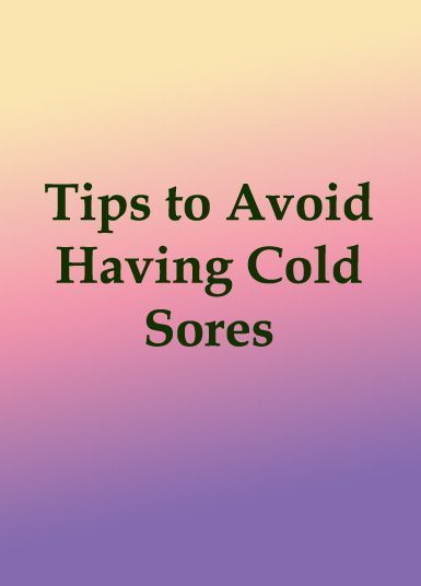Tips to Avoid Having Cold Sores >>> Cold sores or fever blisters can be very disturbing and its unsightly appearance can be very embarrassing. Fever blisters are caused by HSV1 (Herpes Simplex Type 1) virus which is a contagious virus. #coldsoresfreedom #health