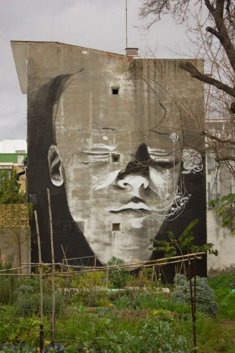 Axel Void New Mural @ Urban Garden – Huerta Del Rey Moro, Sevilla, Spain (2013)