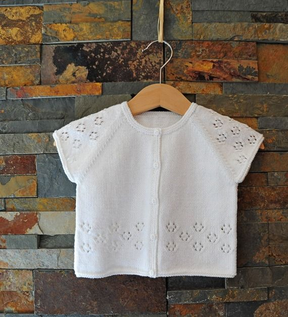 layette Brassière coton 3 mois neuve tricotée main