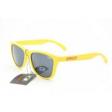 2013 fake Oakley Frogskins Sunglasses matte yellow frames black lens cheap fake Oakley Frogskins Sunglasses