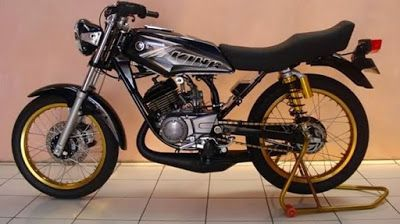 Foto/gambar Modifikasi Motor RX King Warna Hitam