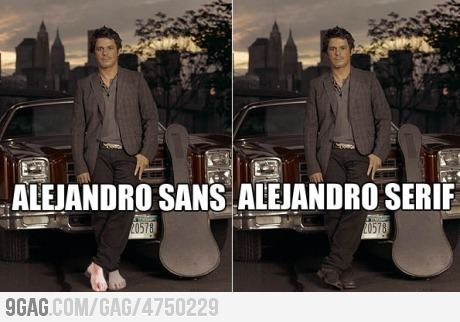 Alejandro Sans Serif