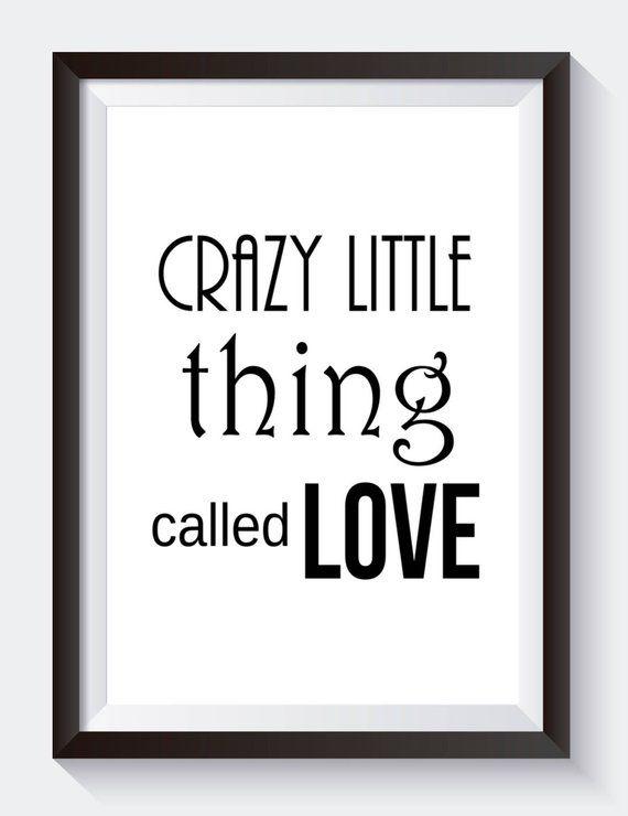 Crazy Little Thing Called Love Digital Print Queen Song Lyrics