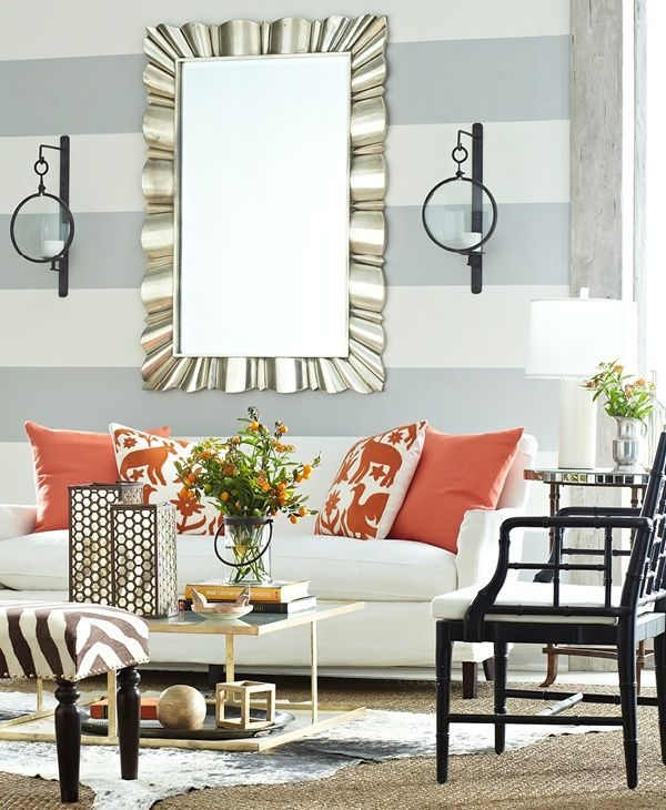 how to make a narrow room appear wider