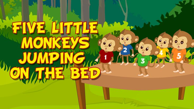 Five Little Monkeys Jumping on the bed - Kidz Rhymes