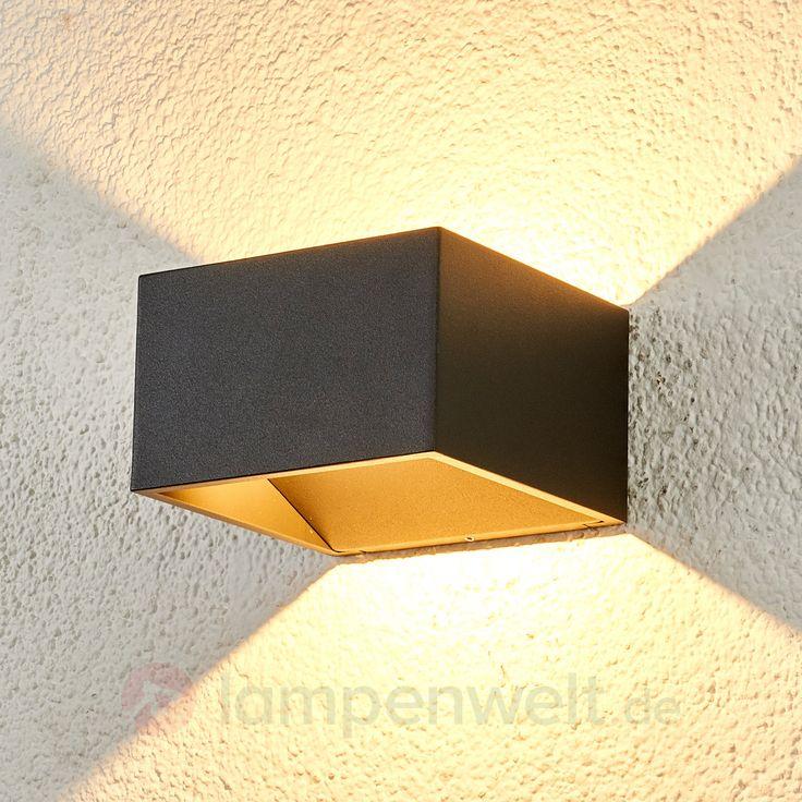 Attraktive LED-Außenwandleuchte Kjella sicher & bequem online bestellen bei Lampenwelt.de.