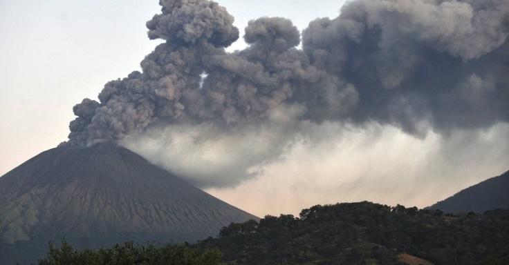 vulcão San Cristobal em Chinandega, a 150 km de Manágua (Nicarágua),