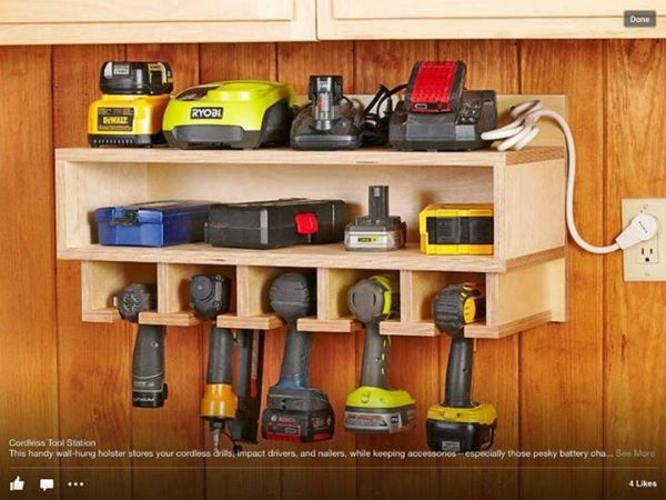 Great Tool Station. I soo need this for my husband. Think he would still have a hard time finding his drills tho...lol!