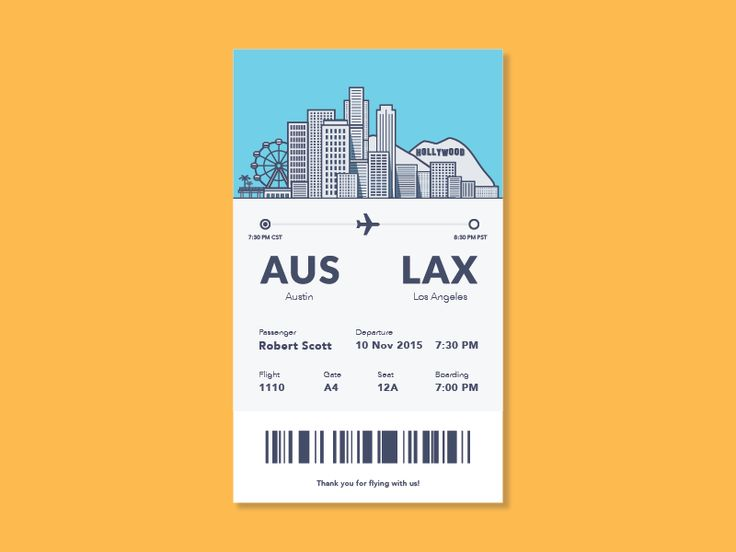 Boarding Pass Design Inspiration — Muzli -Design Inspiration
