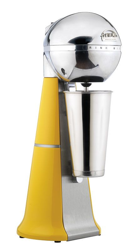 A-2001 Retro Yellow Drink Mixer with inox cup. #yellow