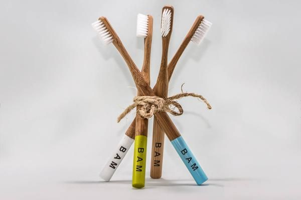 "Natural Moso bamboo handle that is 100% biogradable ""Soft"" Nylon hygienic bristles that are recyclable Water paint on handle for style and customization Better"
